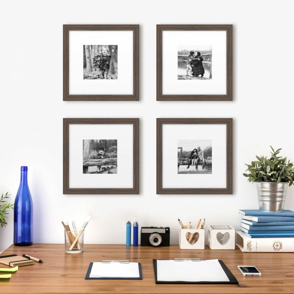 grid gallery wall layout photo series frames framed wall art framing