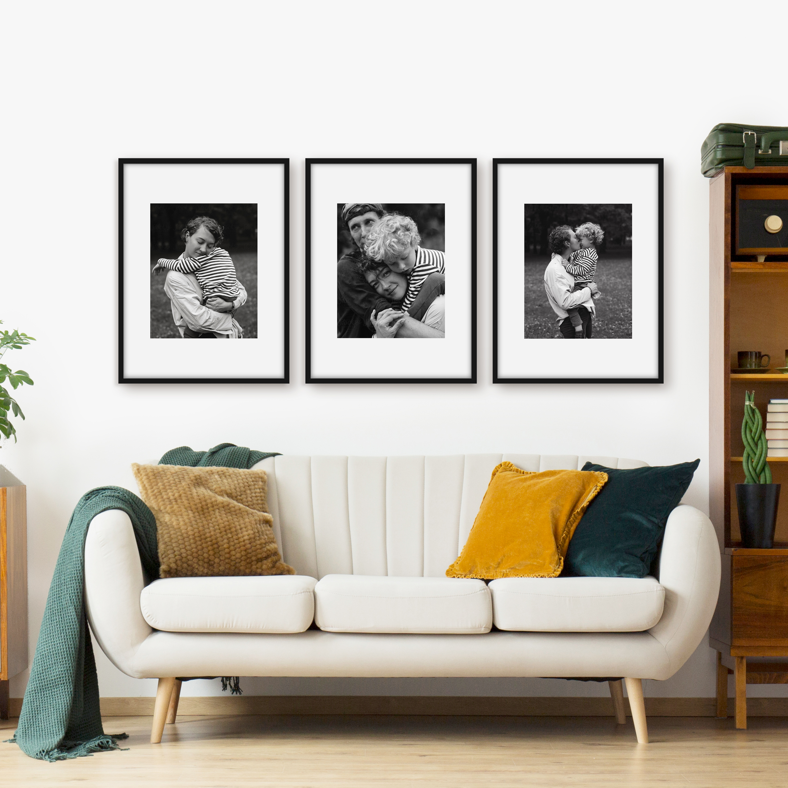 Triptych Upright Three frame layout framed photo series