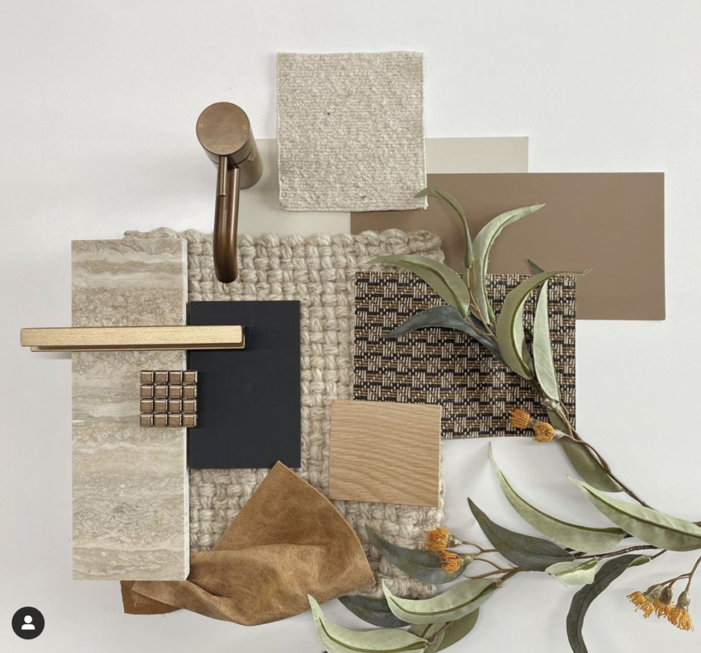 Mood Board Textures interior design home styling